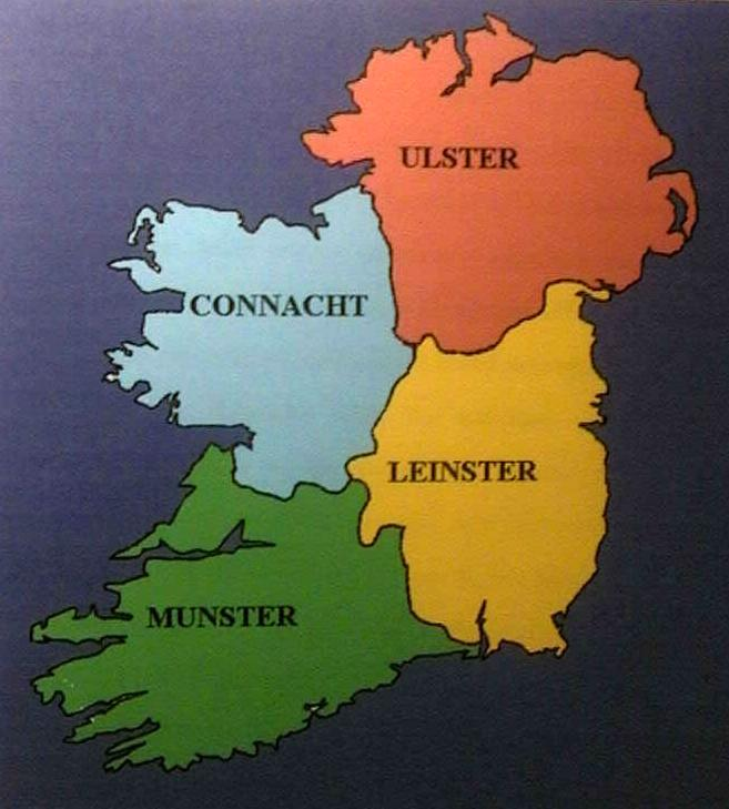 CONSTABULARY OF IRELAND IrishPolicecom - Ireland provinces map